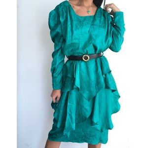Vintage Truworths ruffled dress M/L